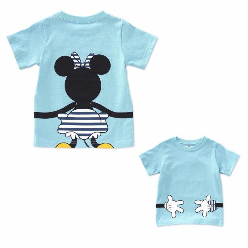 LILIGIRL футболка «Папа и я» летняя одежда для мамы и дочки хлопковый топ с Микки и Минни Маус для мальчиков и девочек, Семейные комплекты - Цвет: Ali913S