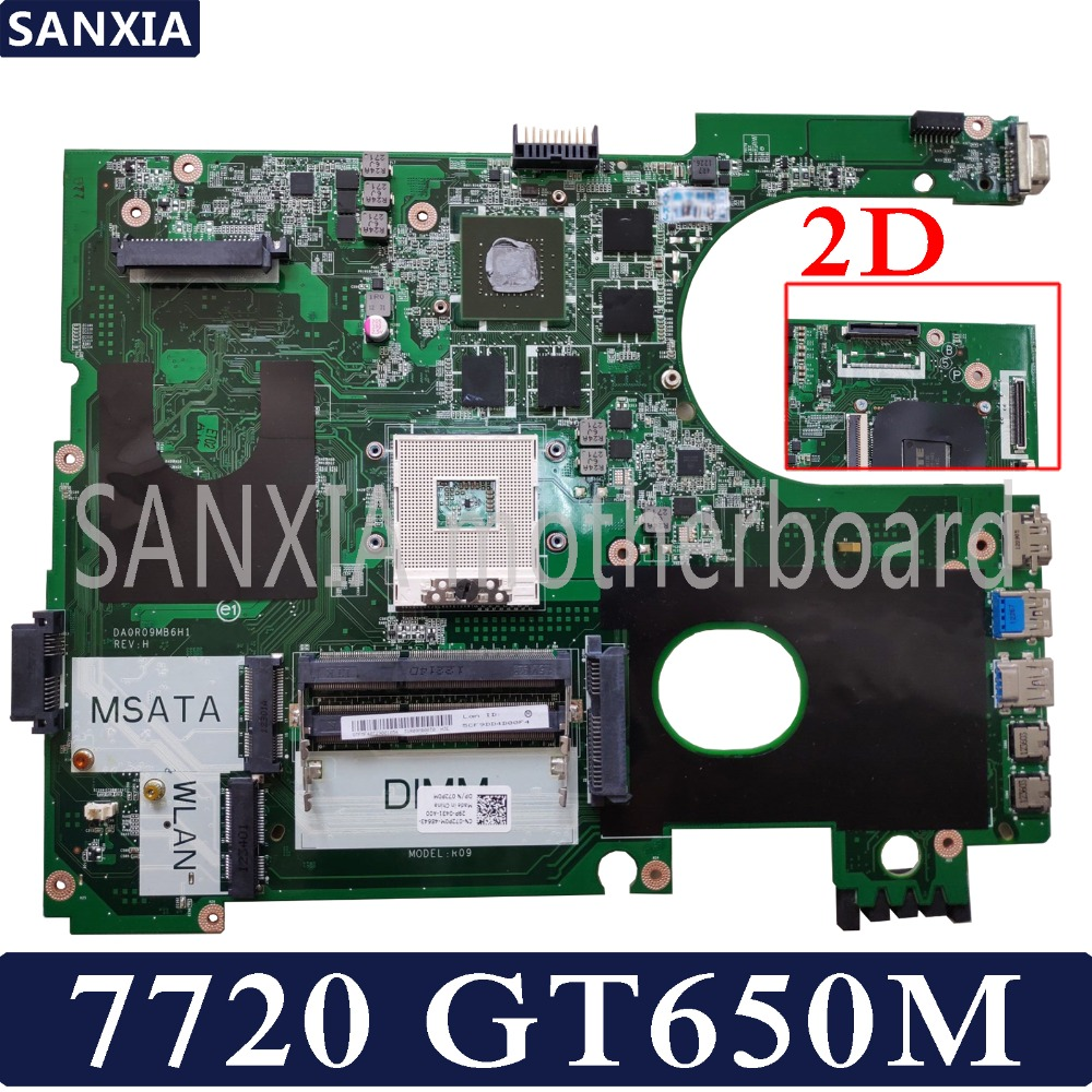 KEFU DA0R09MB6H1 DA0R09MB6H3 Laptop motherboard for Dell 7720 CN 072P0M Test original mainboard GT650M 2D
