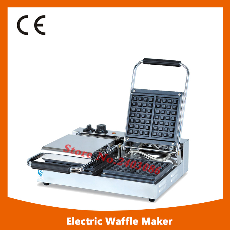 Stainless Steel commercial Single Plate Waffle Baker/ Commercial Square Waffle Make