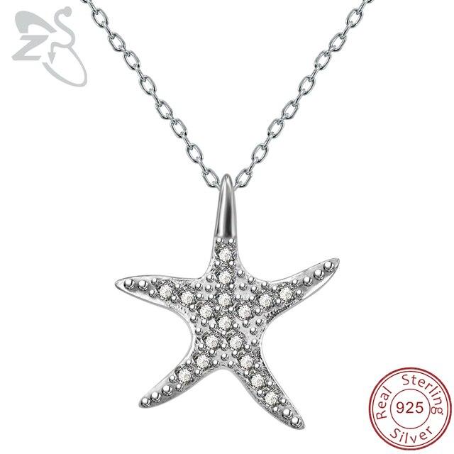 Zs starfish pendant necklace 925 sterling silver link chain paved zs starfish pendant necklace 925 sterling silver link chain paved cubic zirconia star pendant necklace girls aloadofball Choice Image