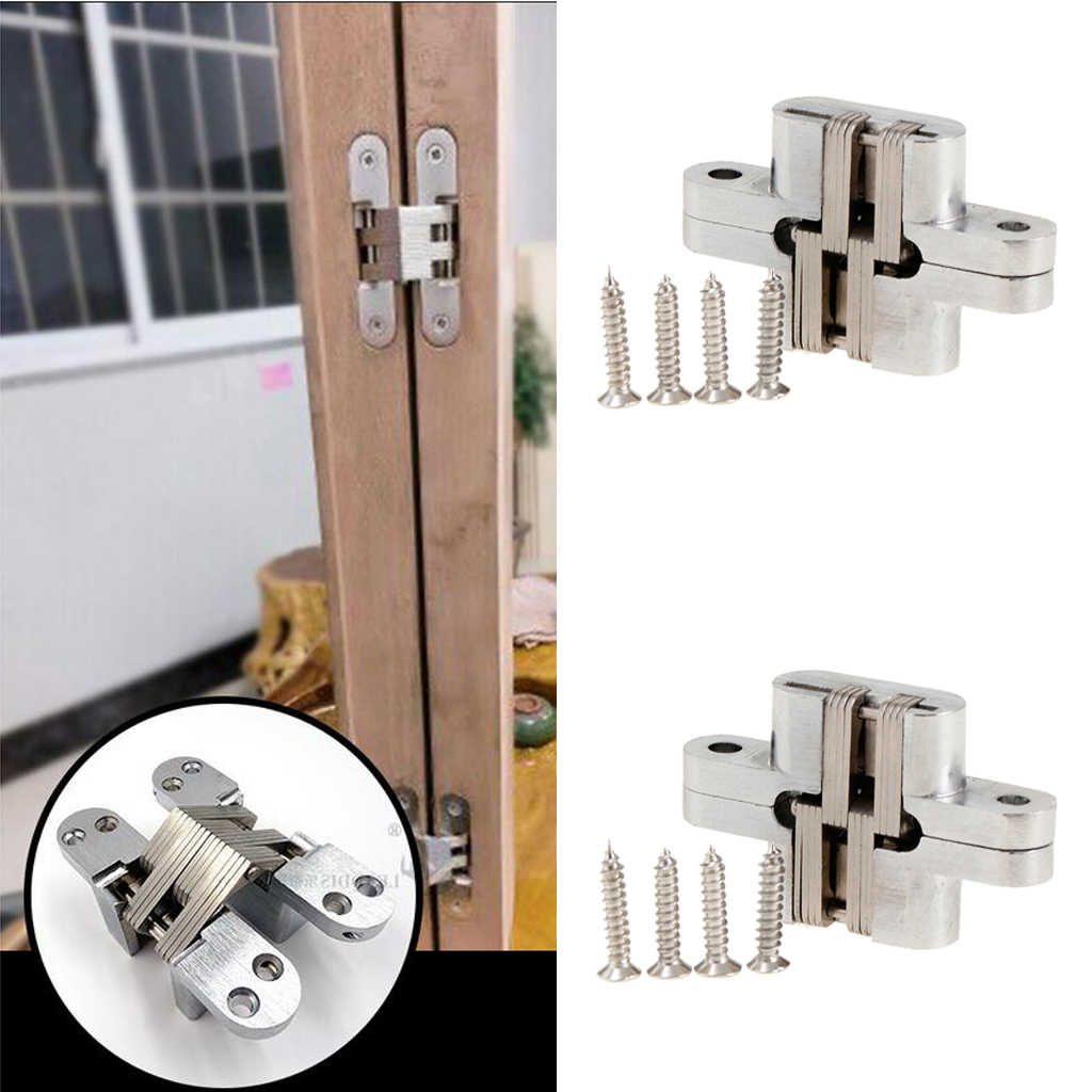 Invisible Concealed Cross Hinges Wooden Doors Zinc Alloy