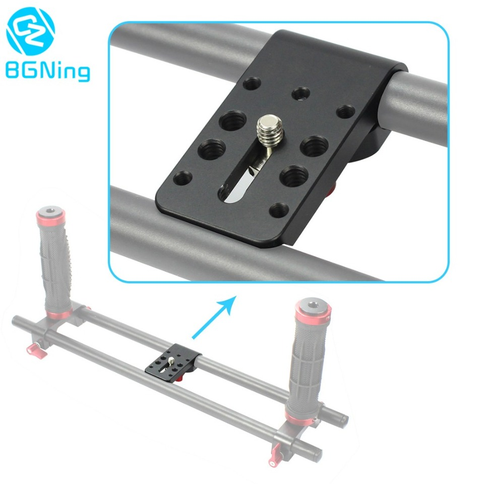 Prettyia Holder Clamp Mount for 15mm Rod Support Rail Follow Focus Rig DSLR