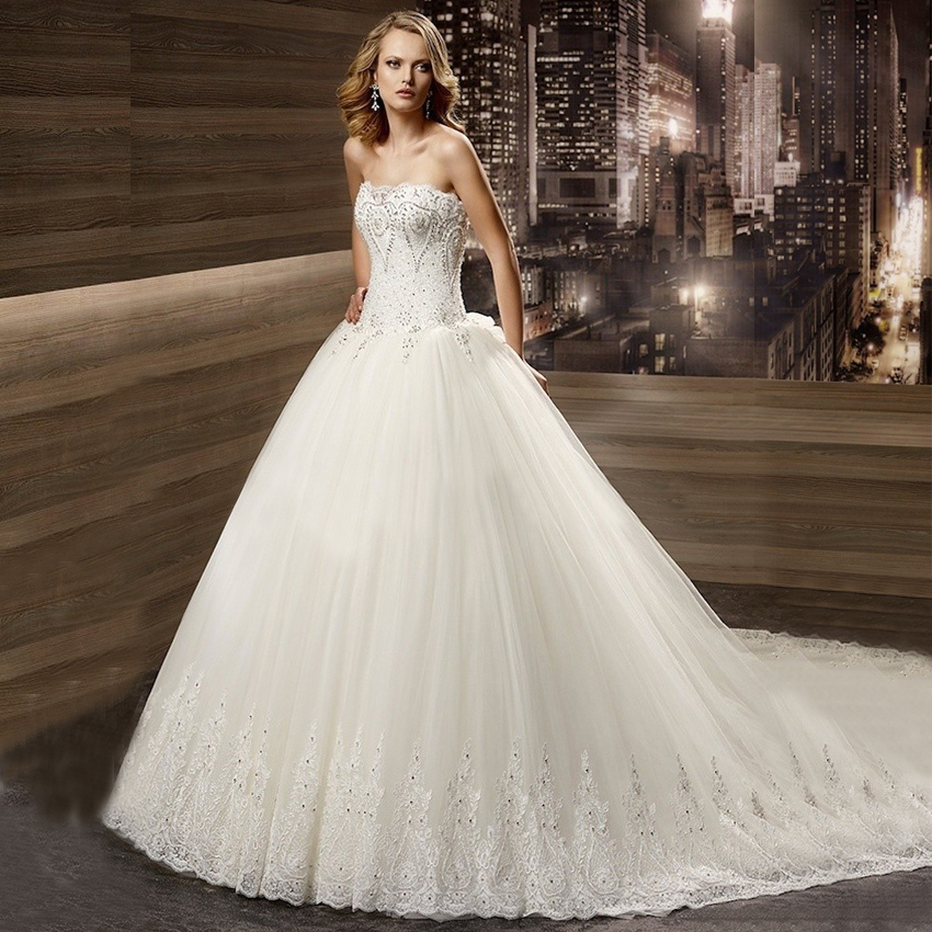 Wedding Dress Ball Gown Style: Best New Style Elegant Tulle Ball Gown Wedding Dresses