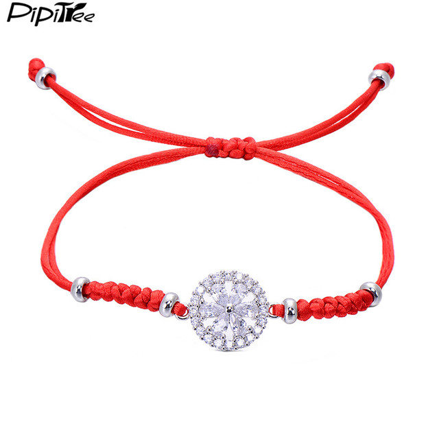 chain charm beads bracelet products four hand ahuva red protective string necklace com