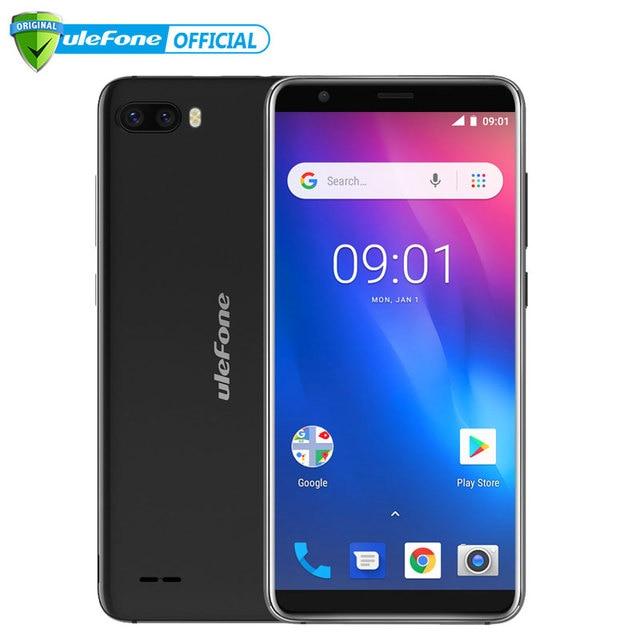 Ulefone S1 teléfono móvil Android 8,1 de 5,5 pulgadas 18:9 MTK6580 Quad Core 1 GB RAM 8 GB ROM 8MP + 5MP trasera Cámara Dual 3G Smartphone