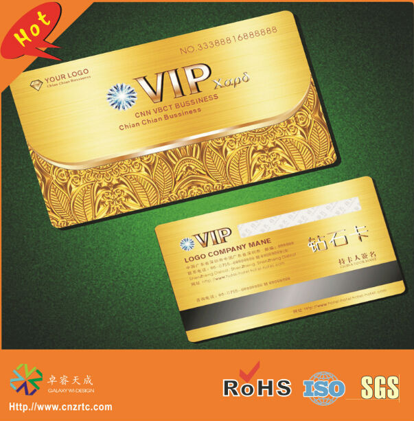 Cr80 both side full color printing high co magnetic strip panel cr80 both side full color printing high co magnetic strip panel plastic gold vip card reheart Gallery
