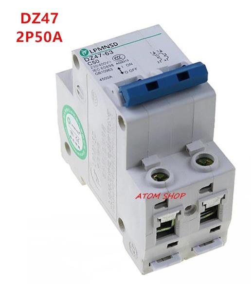 3P 50A 400V~ 50HZ//60HZ Circuit breaker MCB C type