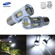 2x 566 P21/4W BAZ15d 7225 SAMSUNG 15w LED Sidelight Tail Reverse Stop Light DRL(CA313)