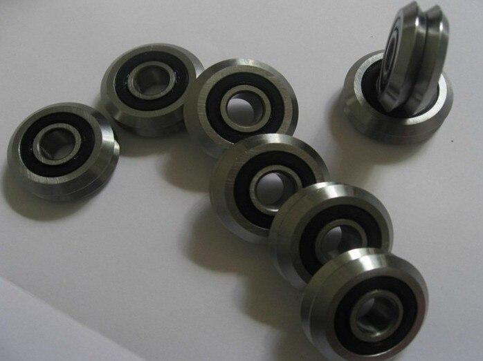 RM4-2RS W4X W4SSX VW4XXL RM4SSX 15*59.94*19.05mm v wheeles  v groove rail Bearing rm4-2rs 10pcs/lot