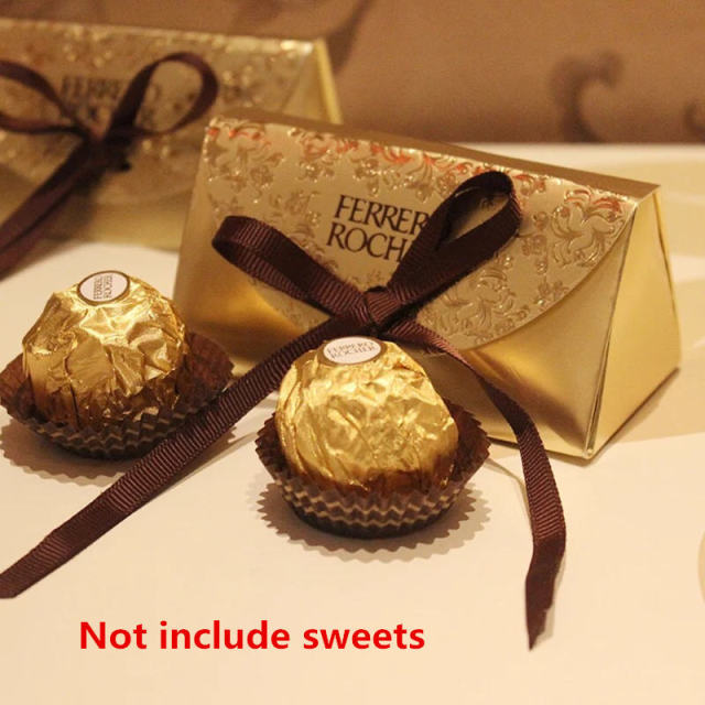 2 Pcs Ferrero Rocher Chocolate Paper Candy Box For Wedding