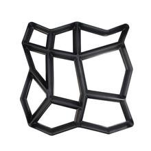 Черное Изготовление DIY тротуарной формы для дома, сада, пола, дороги, бетона, шаговой дорожки, каменной дорожки, формы для патио, производитель дорожных бетонных форм