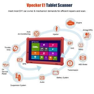 Image 5 - VPECKER E1 Wifi profesjonalny skaner samochodowy OBD2 ABS TPMS DPF SAS IMMO narzędzie diagnostyczne OBDII z 10 Cal Tablet bezpłatna aktualizacja