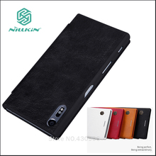 NILLKIN для Sony Xperia XZ чехол Роскошный кожаный чехол для Sony Xperia XZ Высокое качество кожаный чехол флип для Sony Xperia XZ 5.2»