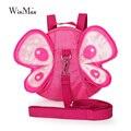 Nueva llegada anti-perdida mochila mariposa para niños pequeños 2 3 4 edades niñas hermosa rosa mariposa juguetes de jardín de infantes mochilas