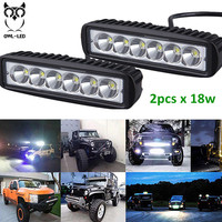 Mini Led Light Bar 18w Waterproof Motor Parts Accessories For ATV 4x4 Offroad Truck Marine Best