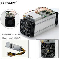 Lapsaipc Bitcoin AntMiner S9 13 5T Machine Miner ASIC BTC Bitmain Mining Machine With Power Supply