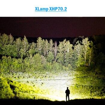 90000 lumen più potente torcia A LED XLamp xhp70.2 usb Zoom torcia xhp70 xhp50 18650 o 26650 batteria Ricaricabile di caccia