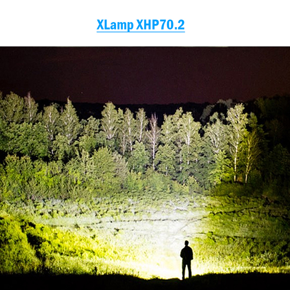 90000 Lumens Most Powerful LED Flashlight XLamp Xhp70.2 Usb Zoom Torch Xhp70 Xhp50 18650 Or 26650 Rechargeable Battery Hunting