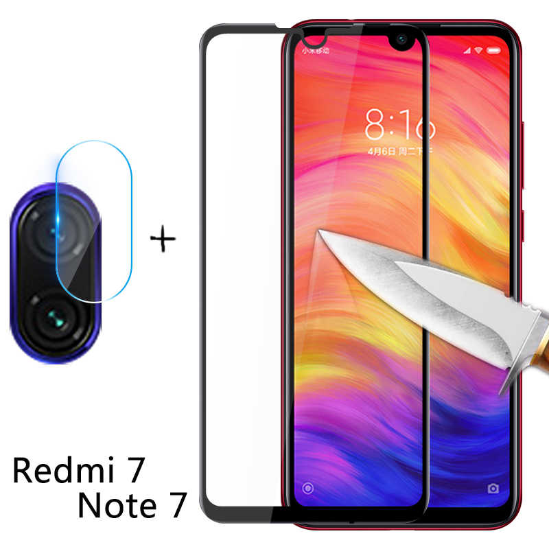2-in-1 Camera Glas redmi Note 7 Gehard Glas Screen Protector Voor Xiaomi redmi 7 Note 7 glas Film redmi 7 Screen Protector