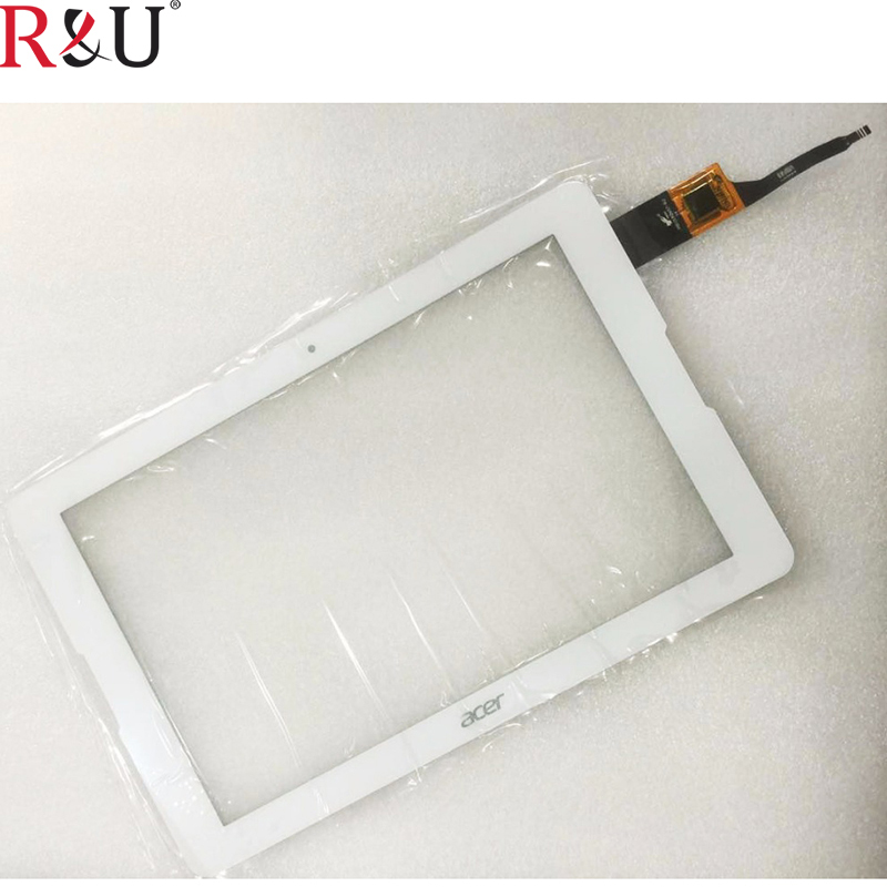 R&U touch screen panel digitizer outer glass sensor replacement For Acer Iconia One 10 B3-A20 B3-A21 B3-A20-K08M A5008 tablet pc white original new for acer iconia tab a3 a20 tablet touch screen digitizer glass touch panel sensor replacement free shipping