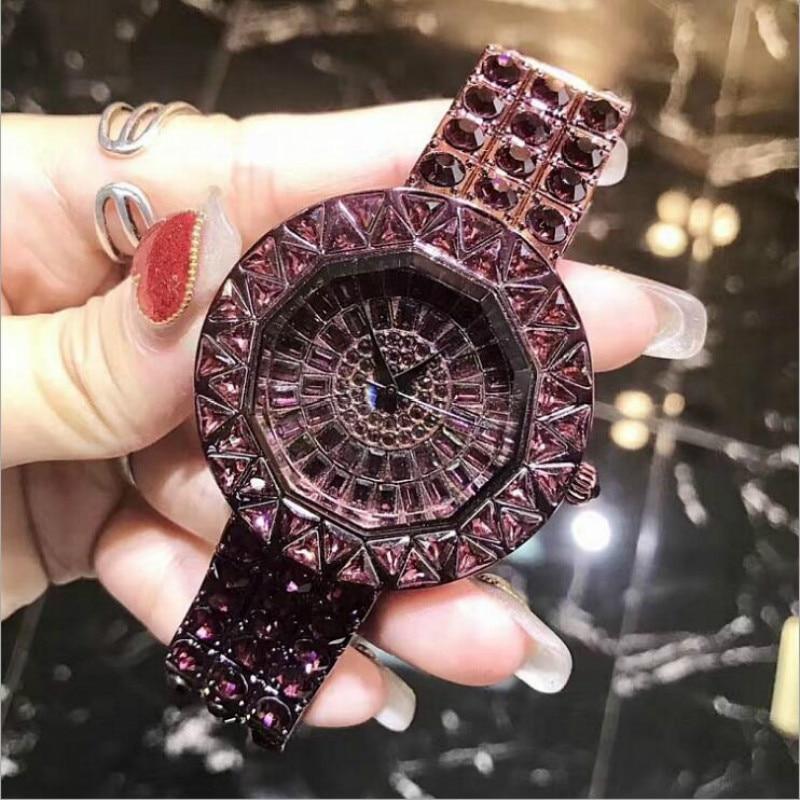 Luksusa sieviešu pulksteņi Diamond slavens zīmola elegants kleita kvarca pulksteņi dāmas Rhinestone rokas pulkstenis Relogios Femininos