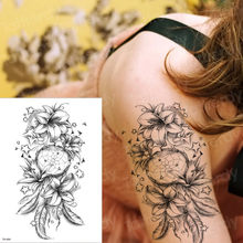 c420c3c6b temporary tattoos waterproof girl tattoo arm le sex stickers temporary  tattoo halloween black rose flower tatto compass water