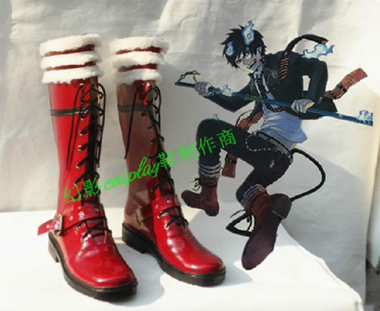 Ao no Exorcist  Okumura Rin  Cosplay Shoes Boots Custom-Made