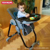 Детский обеденный стул складной Мульти функция портативный ребенок Регулируемый ужин стул для столовой