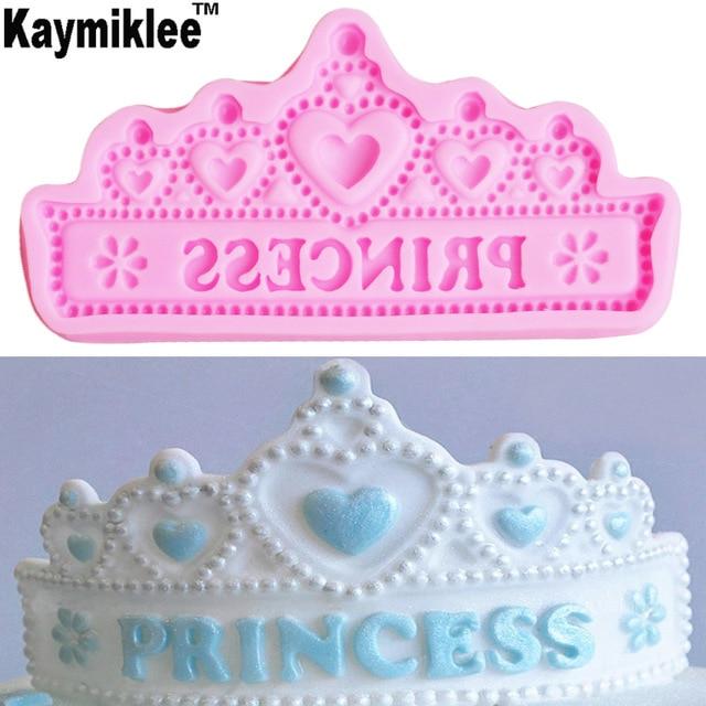 M657 Heiße Neue Prinzessin Krone Silikon Kuchen Formen Hochzeit