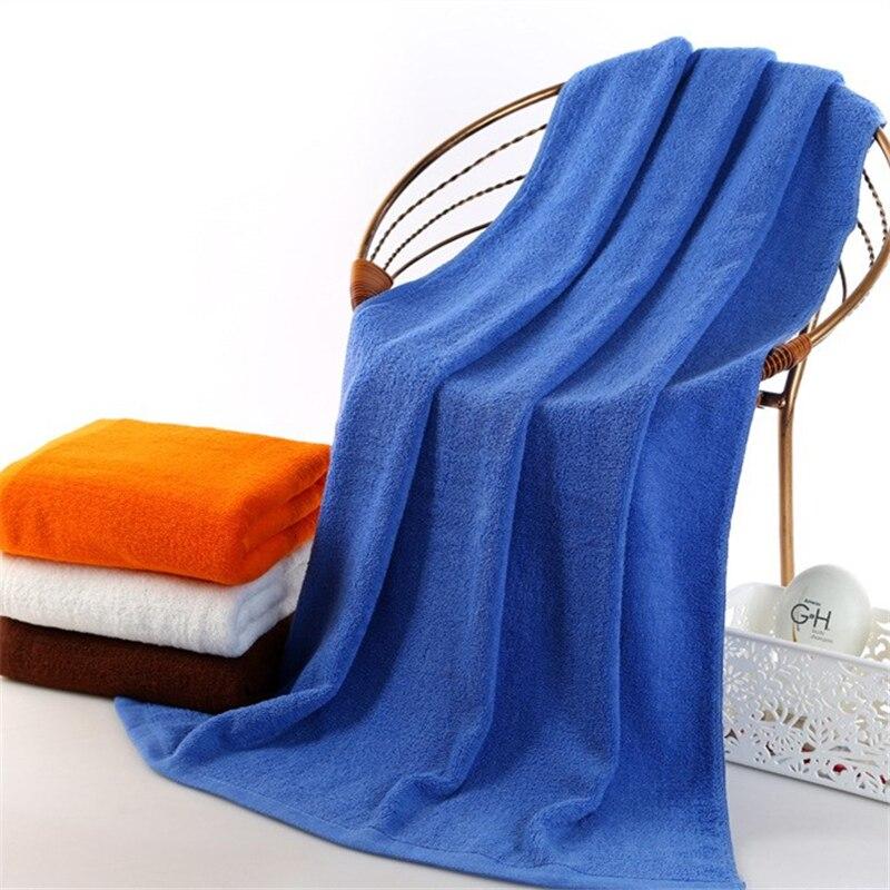 Aliexpress Com Buy 70x150cm Solid Bath Towels White Blue
