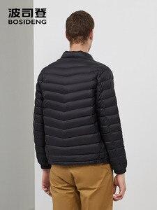 Image 3 - BOSIDENG جديد خريف 90% بطة أسفل سترة الرجال أسفل معطف المحمولة خفيفة للغاية مقاوم للماء جودة عالية B90131013