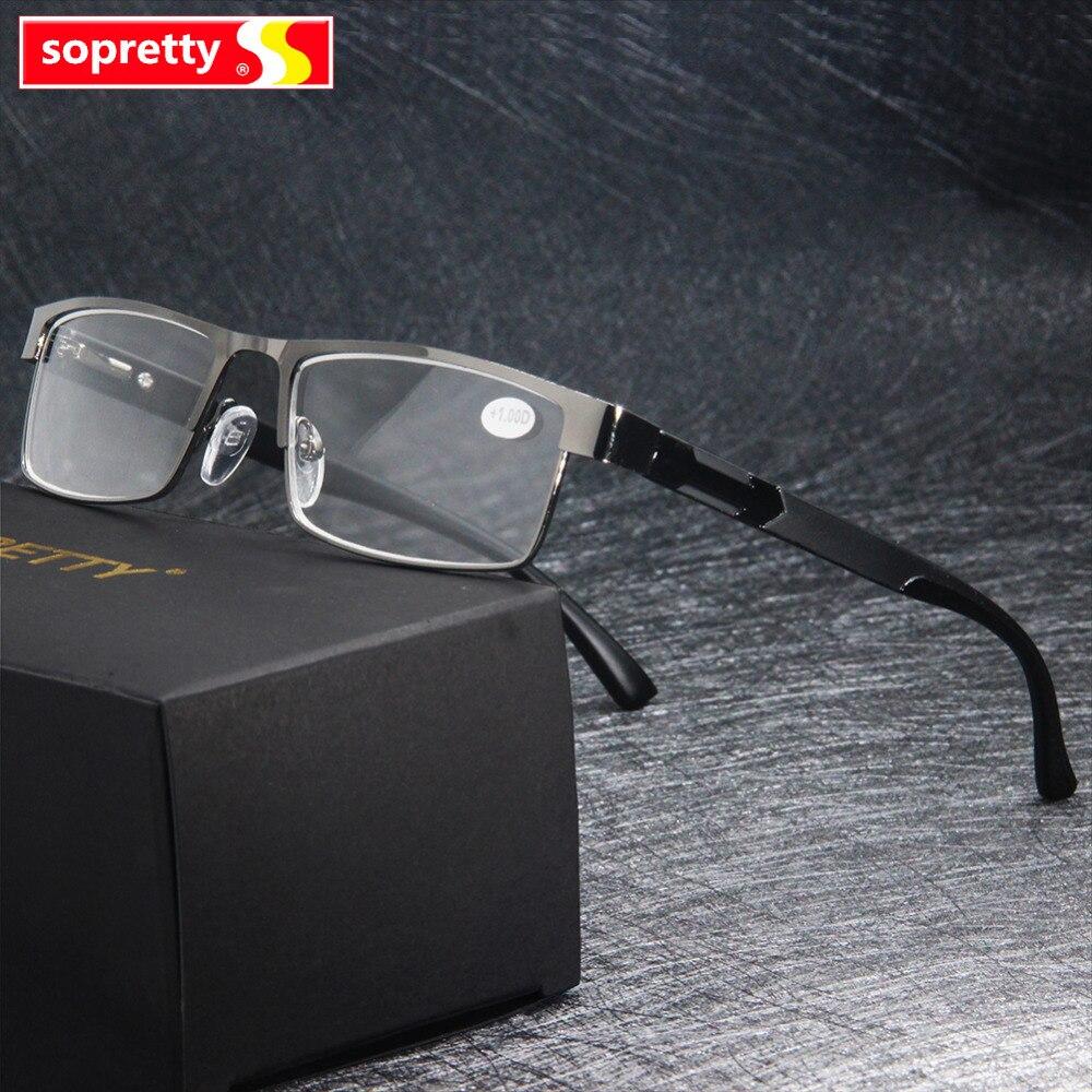 MEN Titanium Alloy Reading Glasses Unisex Non Spherical 12 Layer Coated Lenses Eyeglasses 1 0 1