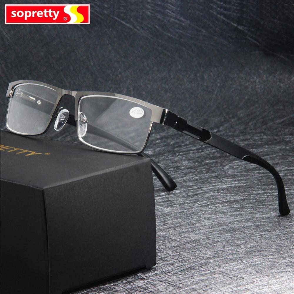 MEN Titanium Alloy Reading Glasses , Presbyopia Non Spherical 12 Layer Coated Eyeglasses (+1.0 +1.5 +2.0 +2.5 +3.0 +3.5+4.0 )