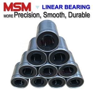 Image 2 - 10pcs MSM Linear Bearings LM4 LM5UU LM6UU LM8UU LM8SUU LM10UU LM12UU LM13UU LM16UU LM20UU LM25UU LM30UU Shaft Ball Bushings mm