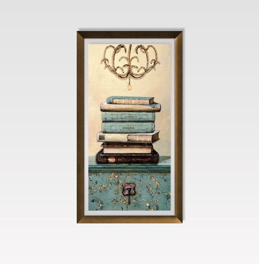 Vintage mrtvačka knjiga Slikarstvo na platnu Zid Umjetnost - Kućni dekor - Foto 5