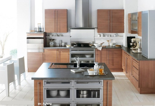 High Quality Customzied Double Sided Kitchen Cabinets K008