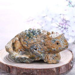 Nieuwe Collectie Natuursteen Gesneden Wild Dier Precious Turquoise Fashion Cabochon 90x61x36mm 175.6g