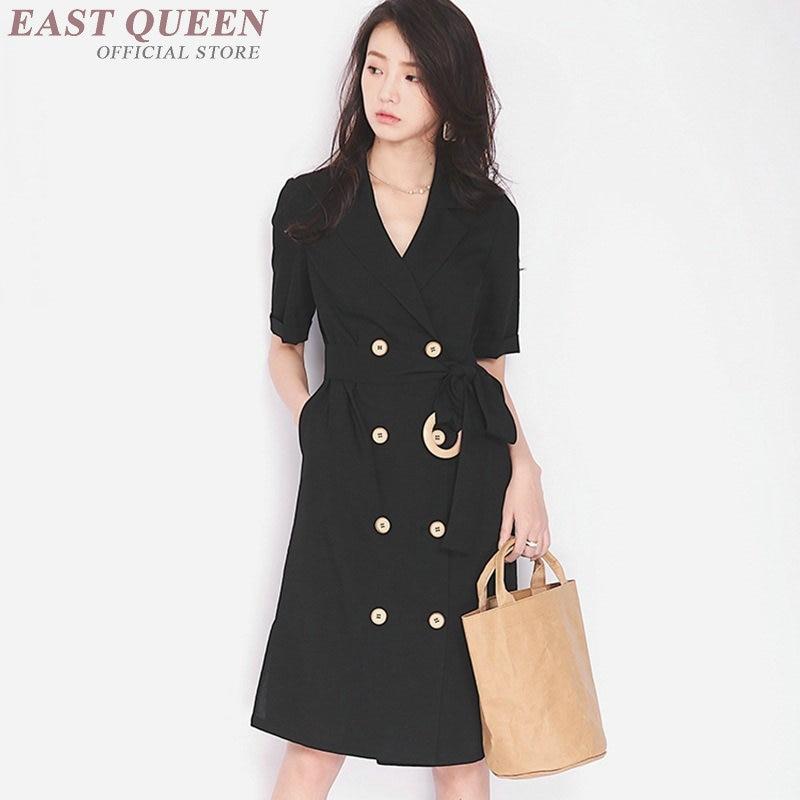 Fermeture 1 Femmes Ff1053 Mode Streetwear Bouton 2018 Avec Sociale Coréen Pour Robe Coréenne À 7IwnqxO4n