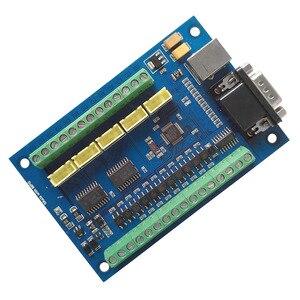 Image 4 - 5 osi CNC płyta sterownicza USB MACH3 tabliczka zaciskowa maszyny do grawerowania z MPG krokowy motion karta kontrolera