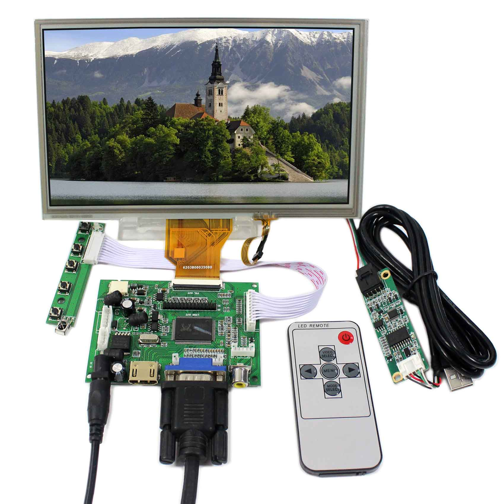 8inch 800x480 AT080TN64 With Touch Panel VS080TP-A5+HDMI VGA 2AV LCD Controller Board VS-TY2662-V1 цена и фото