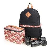 Водонепроницаемый Фото Цифровые Камеры DSLR Сумка Рюкзак для Canon 60D, 70D, 100D, 45OD, 500D, Nikon D90, D3100, D3200, D5100, D5200
