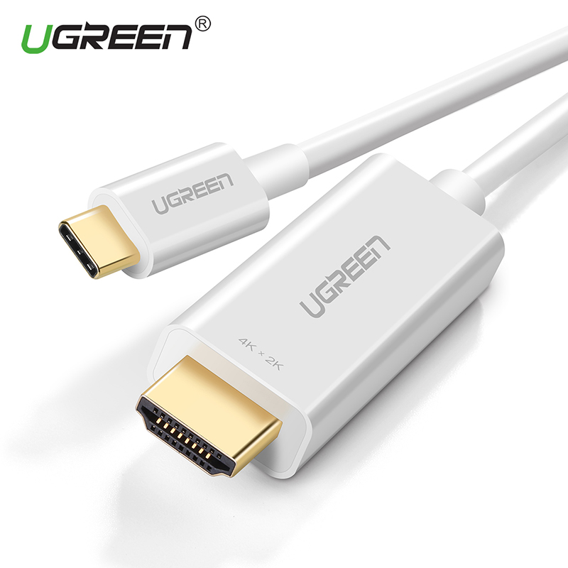 Ugreen USB C to HDMI 4K Type C to HDMI Male Cable USB-C Support 4K*2K for MacBook Pro Samsung Galaxy S8 Huawei Mate 10 USB HDMI new usb 3 1 type c usb c to hdmi 4k tv video hdtv av adapter cable for macbook huawei matebook samsung galaxy s8 s8 plus lg g5