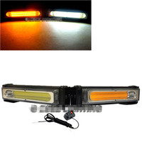 COB LED 20W Amber&White Emergency Hazard Strobe Beacon Caution Warn Light Bar