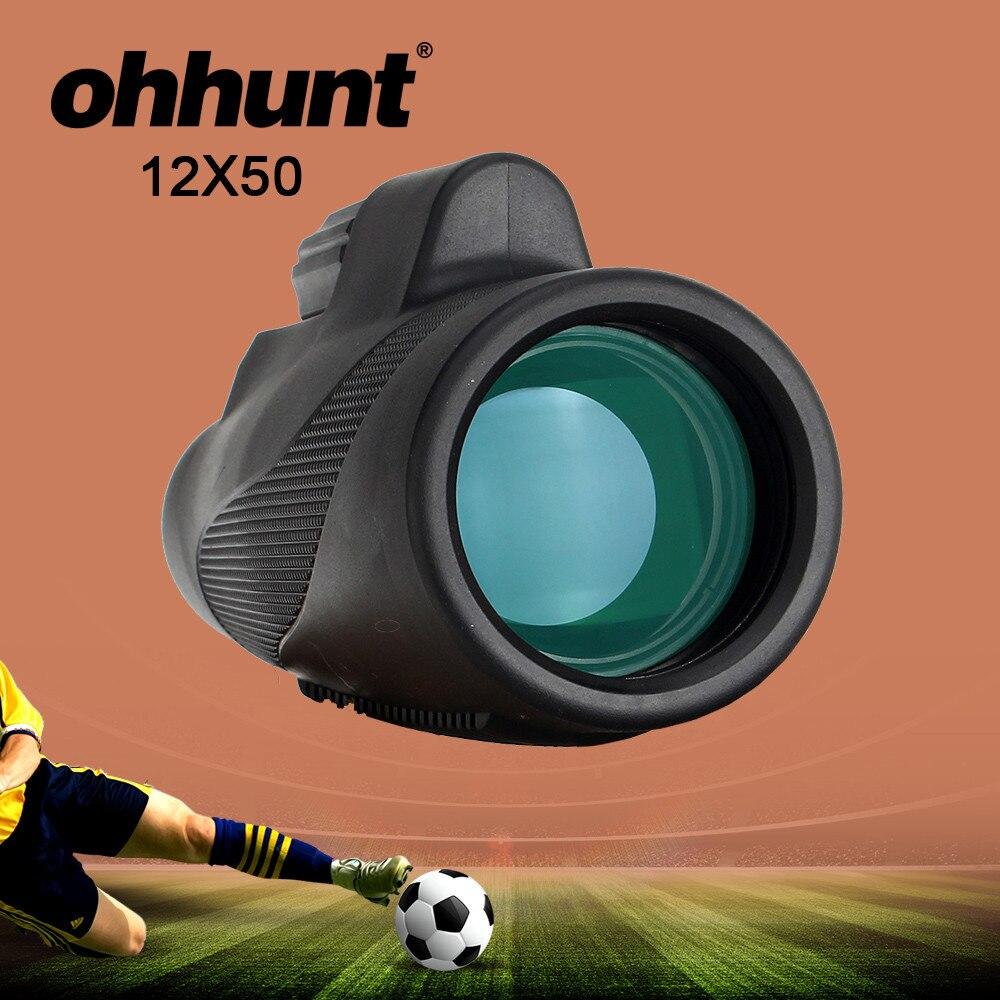 ohhunt 12X50 Optyczny monokularowy myśliwski wodoodporny przeciwmgielny Zoom Obserwacja ptaków Lornetka na piesze wycieczki Kemping Piłka nożna