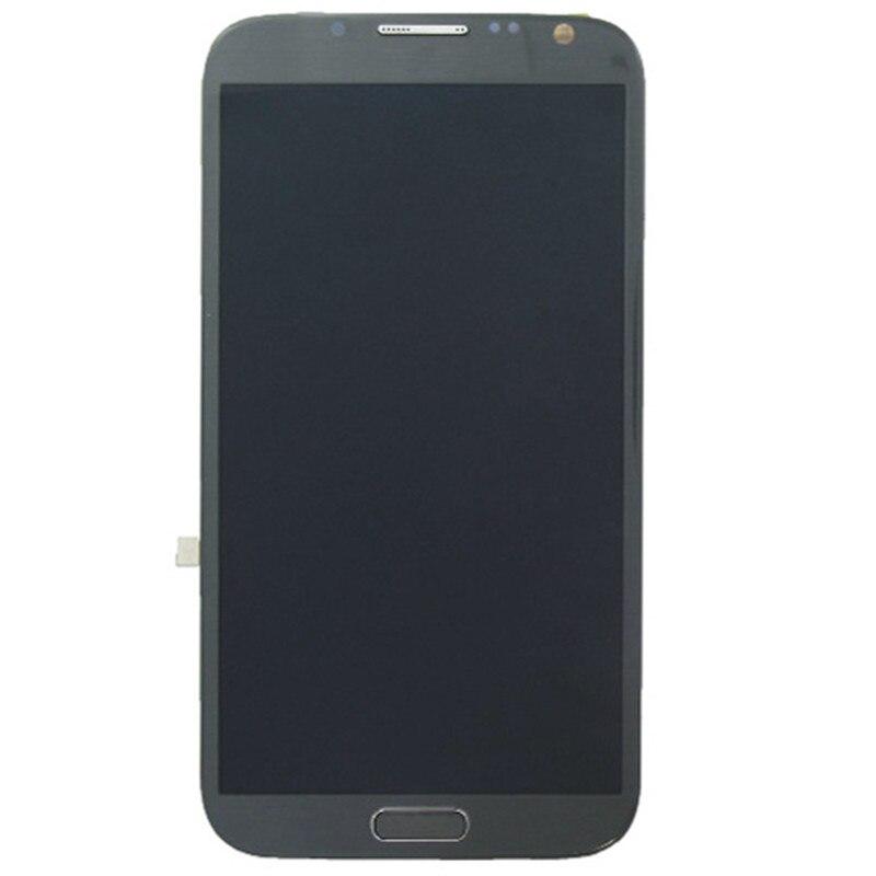 Écran LCD d'origine + écran tactile avec cadre pour Galaxy Note II/N7105