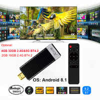 X96S TV Stick Android 8.1 TV Dongle 4GB 32GB Amlogic S905Y2 Quad Core 2.4G 5GHz Wifi BT4.2 1080P H.265 HD 4K 60pfs TV Receiver