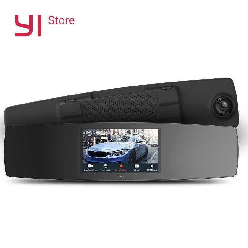 YI Mirror Dash Cam Dual Dashboard font b Camera b font Recorder Touch Screen Front Rear