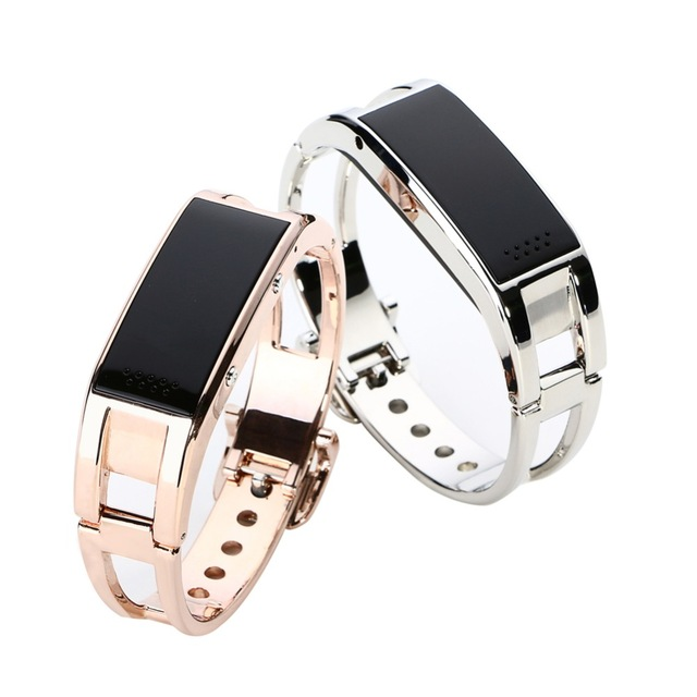 Fashion Full Steel font b Smart b font Bracelet D8 Bluetooth Band Anti lost Remote Control