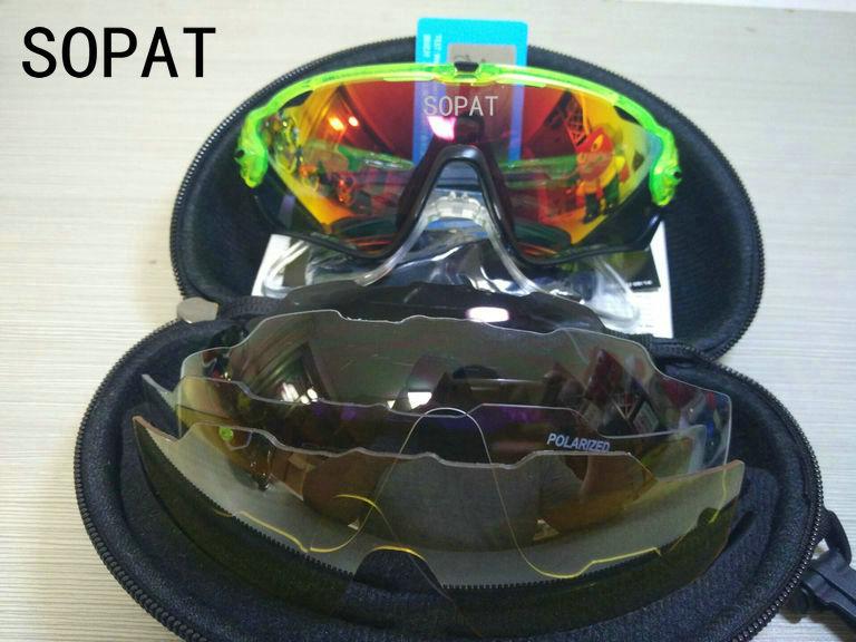 HTB12ttgQXXXXXXxXpXXq6xXFXXXW - 2018 4 Lens Mountain Velo Goggles Polarized Jaw Breaker Sunglasses Men Women MTB sopat Eyewear JBR Sun Glasses with Myopia Frame