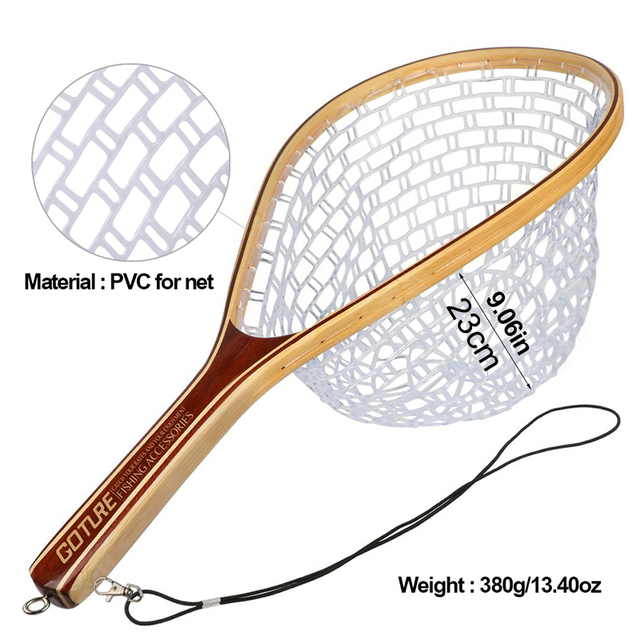 Awesome No1 Goture Fly Fishing Trout Landing Net Set Fishing Accessories cb5feb1b7314637725a2e7: Blue|Golden|Red